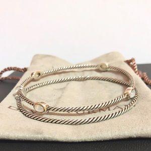 David Yurman color classic 2 Bangle Bracelets
